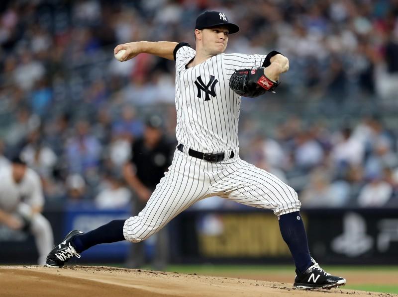 """Grejam pirmā uzvara """"Yankees"""" kreklā"""