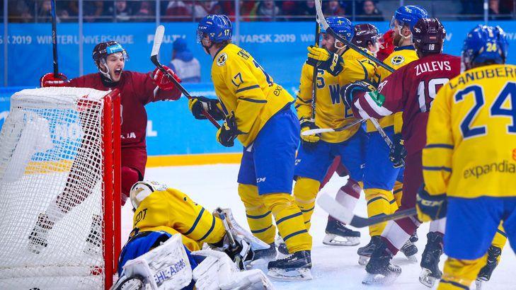 Latvijas studentu hokeja izlase Universiādi noslēdz ar 11 ripu iemešanu Lielbritānijai