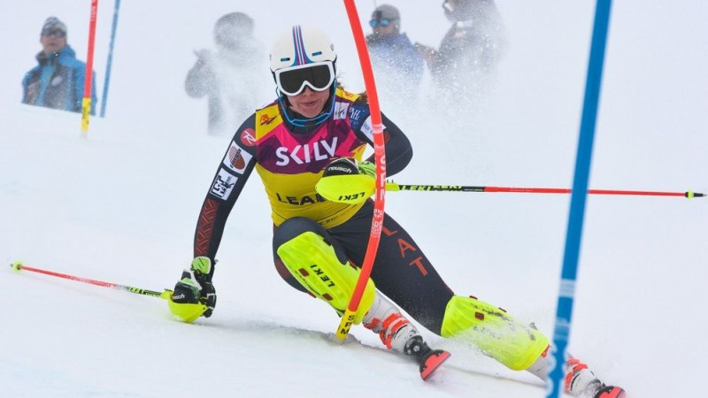 Evelīnai Gasūnai trešā vieta Baltijas kausa paralēlā slaloma sacensībās