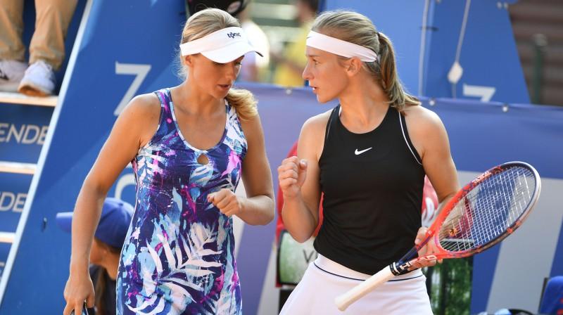 Marcinkevičai zaudējums ITF dubultspēļu pusfinālā Anglijā