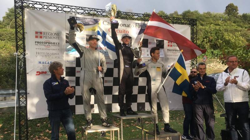 Formula 4 pilots Lijcs izcīna uzvaru pasaules čempionāta posmā Itālijā (video)