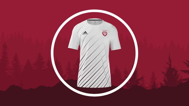 Balsojumā noskaidrots Latvijas izlases izbraukuma spēļu formas dizains