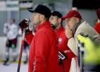 Foto: Latvijas izlase ar Karsumu un Bārtuli aizvada pirmo treniņu pirms turnīra Vācijā