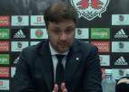 """Video: Andrejs Kaļiņins: """"Neradījām uz pretinieka vārtiem pietiekamu spiedienu"""""""
