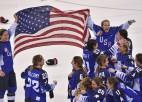 ASV hokejistes izcilā bullīšu sērijā pēc 20 gadu pārtraukuma izcīna olimpisko zeltu