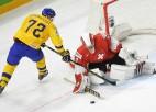 Zviedrija apspēlē arī Šveici un izcīna sesto uzvaru tikpat spēlēs
