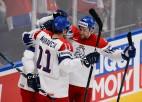 Čehija vārtiem bagātā spēlē pārspēj Šveici