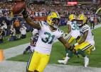 """NFL jubilejas sezona sākas ar mazrezultatīvu """"Packers"""" panākumu"""