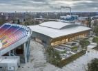 """Beidzot uzsākta """"Daugavas stadiona"""" ledus halles būvniecība"""