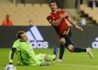 Spānija ar 6:0 <i>sabradā</i> Vāciju un uzvar grupā, Fēru salas spēlēs C līgā