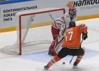 Video: KHL vārtsargs nepamana, ka ripa jau ir pie cita spēlētāja un ielaiž papildlaikā