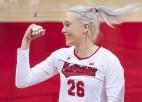 Video: Latviešu izcelsmes NCAA volejbola zvaigzne iekļūst kuriozā epizodē