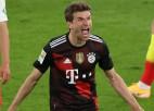 """""""Bayern"""" līderu cīņā bez Levandovska pārspēj """"Leipzig"""", Menhengladbaha atspēlējas"""