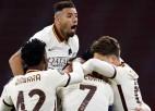 """""""Roma"""" atspēlējas un uzvar """"Ajax"""", """"Arsenal"""" pēdējās sekundēs izlaiž uzvaru pār Prāgu"""