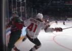 Video: KHL pusfinālu labākie spēka paņēmieni