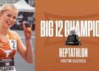 """Septiņcīņniece Blaževiča - NCAA """"Big 12"""" konferences čempione ar personīgo rekordu"""