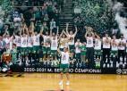''Žalgiris'' 23. reizi 28 gadu laikā triumfē Lietuvas čempionātā, <i>Efes</i> uzvar arī Turcijā