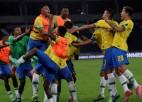 Kazemiru pēdējā minūtē izrauj Brazīlijas uzvaru, Ekvadora un Peru punktus dala