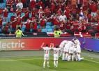 """Video: """"Euro 2020"""" pirmajā astotdaļfinālā Dānija satriec velsiešus"""