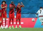"""Video: Beļģi iztur portugāļu spiedienu un kvalificējas """"Euro 2020"""" ceturtdaļfinālam"""