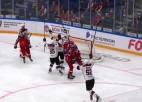 """Video: Rīgas """"Dinamo"""" ielaiž 58. minūtē un minimāli piekāpjas CSKA vienībai"""