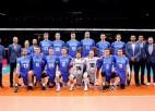 Igauņi atspēlējas un <i>trillerī</i> uzvar Slovākiju, poļi piecos setos pārspēj Serbiju
