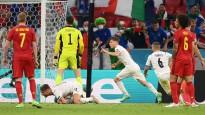 """Itālija izslēdz beļģus un iekļūst """"Euro 2020"""" pusfinālā"""