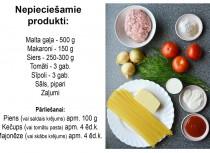 Fotorecepte: Pastas un maltās gaļas sacepums soli pa solim