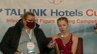 Daiļslidotāja Lāce sacensībās Tallinā pārspēj Kučvaļsku