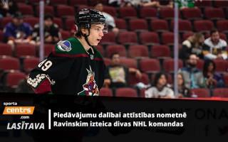 """Ravinskis par """"Coyotes"""" interesi un pieredzi NHL jauno spēlētāju nometnē"""