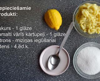 Fotorecepte: Kartupeļu konfektes soli pa solim