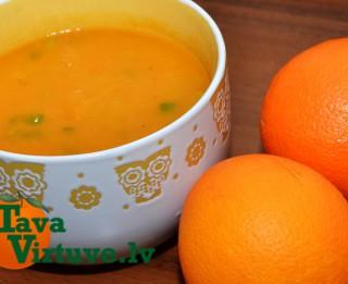 Fotorecepte: Apelsīnu un burkānu krēmzupa soli pa solim