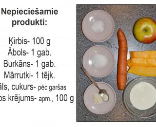 Fotorecepte: Ķirbju salāti ar ābolu un burkāniem soli pa solim