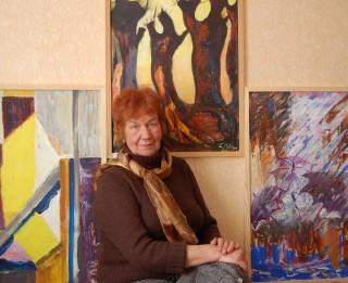 Kultūras un atpūtas centrā IMANTA atklāta Loretas Pelšes (1939–2015) piemiņas izstāde MIRDZUMS