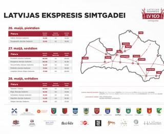 Latvijas simtgades ekspresis piestās Rīgā