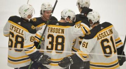 """Tralmakam un """"Bruins"""" jaunajai maiņai zaudējums pret Ņūdžersiju"""