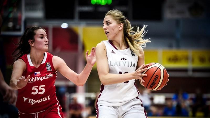 Ļiza Čumika 2019. gada Eiropas U20 čempionātā Čehijas pilsētā Klatovi. Foto: FIBA