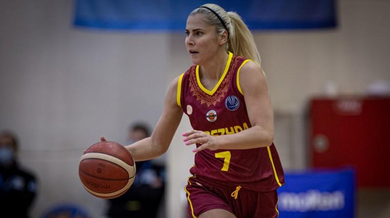 Elīna Babkina 2020. gada 1. decembrī. Foto: FIBA