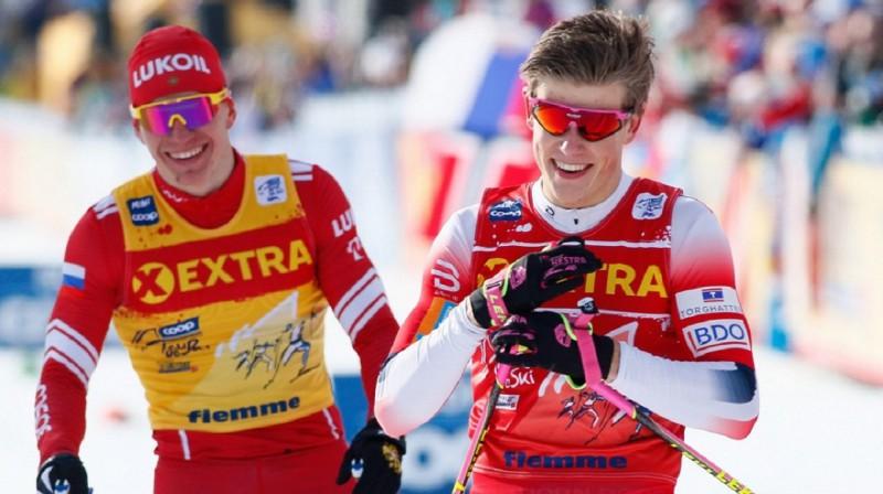 Kurš no viņiem - Boļšunovs vai Klēbo - šoreiz būs smaidīgs pēc finiša? Foto: Getty images