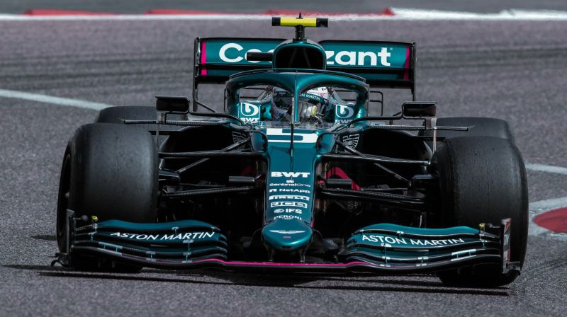 "Sebastians Fetels F1 testos ""Aston Martin"" sastāvā. Foto: Aston Martin Cognizant F1 Team"