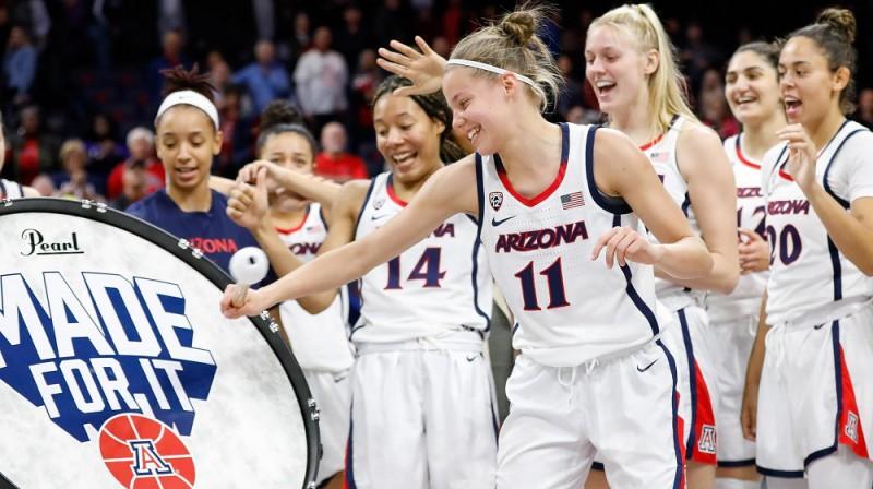 Māra Mote: pirmā Latvijas basketboliste NCAA čempionāta finālā. Foto: Arizona