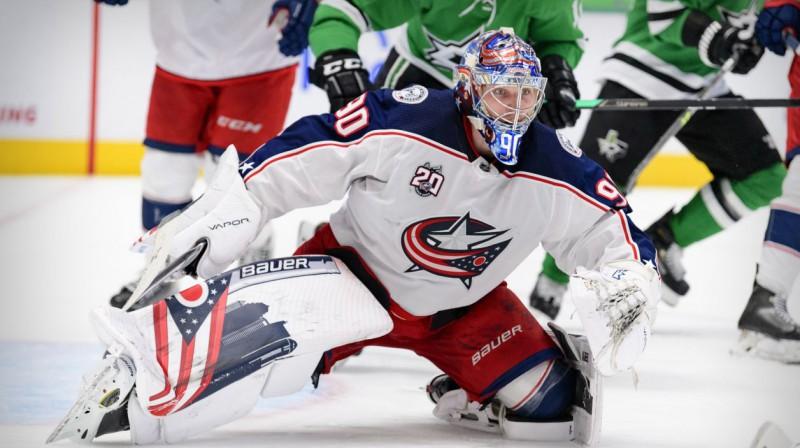 Elvis Merzļikins. Foto: Jerome Miron/USA Today Sports/Scanpix