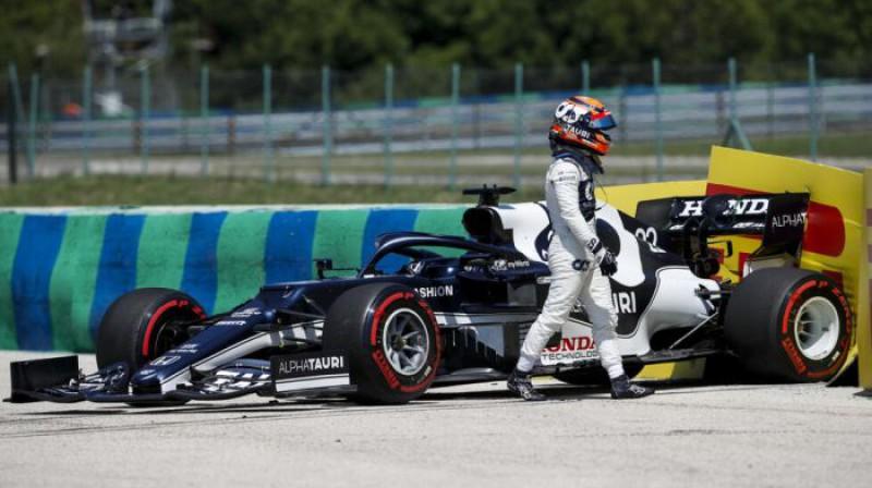 Juki Cunoda pēc avārijas. Foto: Motorsport.com
