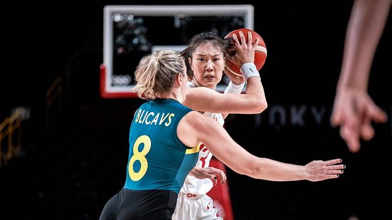 Sāra Blicavs 2021. gada 30. jūlijā Tokijā. Foto: FIBA
