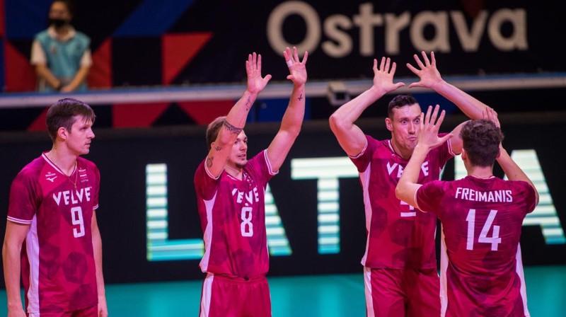 Latvijas volejbola izlase. Foto: CEV