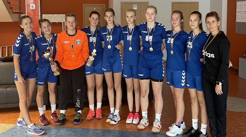 LAT 2006 komanda. Foto: Latvijas handbola federācija.