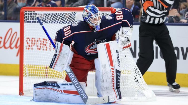 Elvis Merzļikins. Foto: Aaron Doster/USA Today Sports/Scanpix