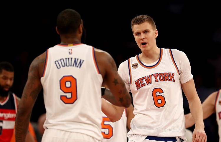 """Pētījums: Porziņģa un """"Knicks"""" cīņa par """"play-off"""" ir (gandrīz) beigusies"""