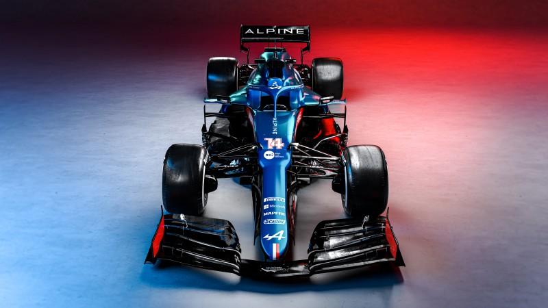 """""""Alpine"""" atrāda jauno mašīnu ar F1 sacīkstēs vēl neredzētu krāsojumu"""