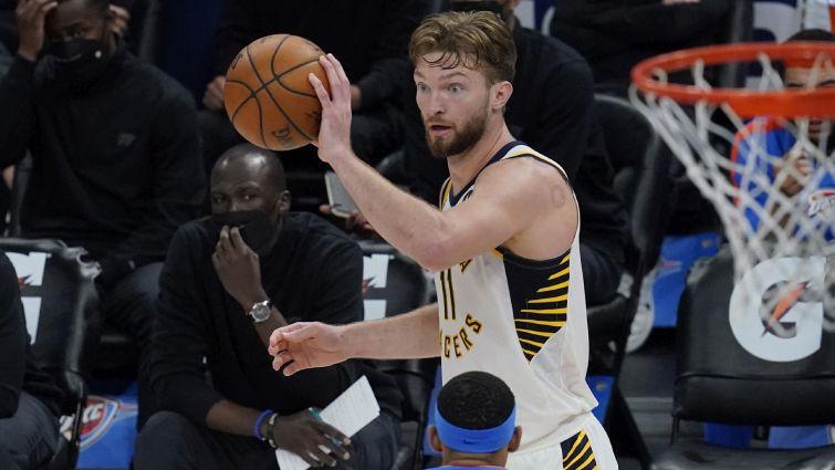 ''Nuggets'' piektā uzvara pēc kārtas, Sabonim 26+19+14, ''Pacers'' grauj ar +57